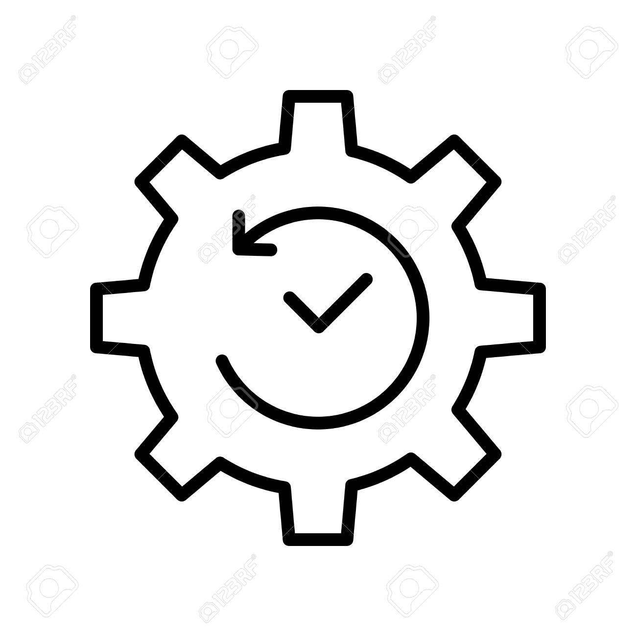 premium time icon or logo in line style high quality sign and