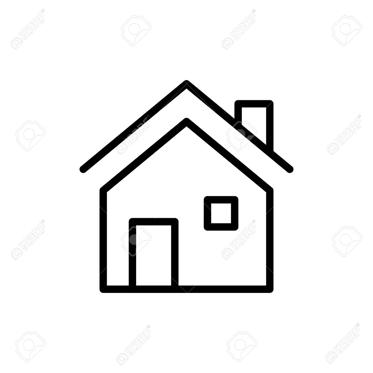 Premium Home Icon Or Logo In Line Style On A White Background Royalty Free Cliparts Vectors And Stock Illustration Image 83685345