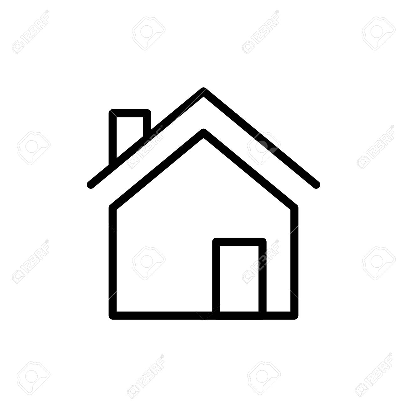 Premium Home Icon Or Logo In Line Style High Quality Sign And Royalty Free Cliparts Vectors And Stock Illustration Image 83684799