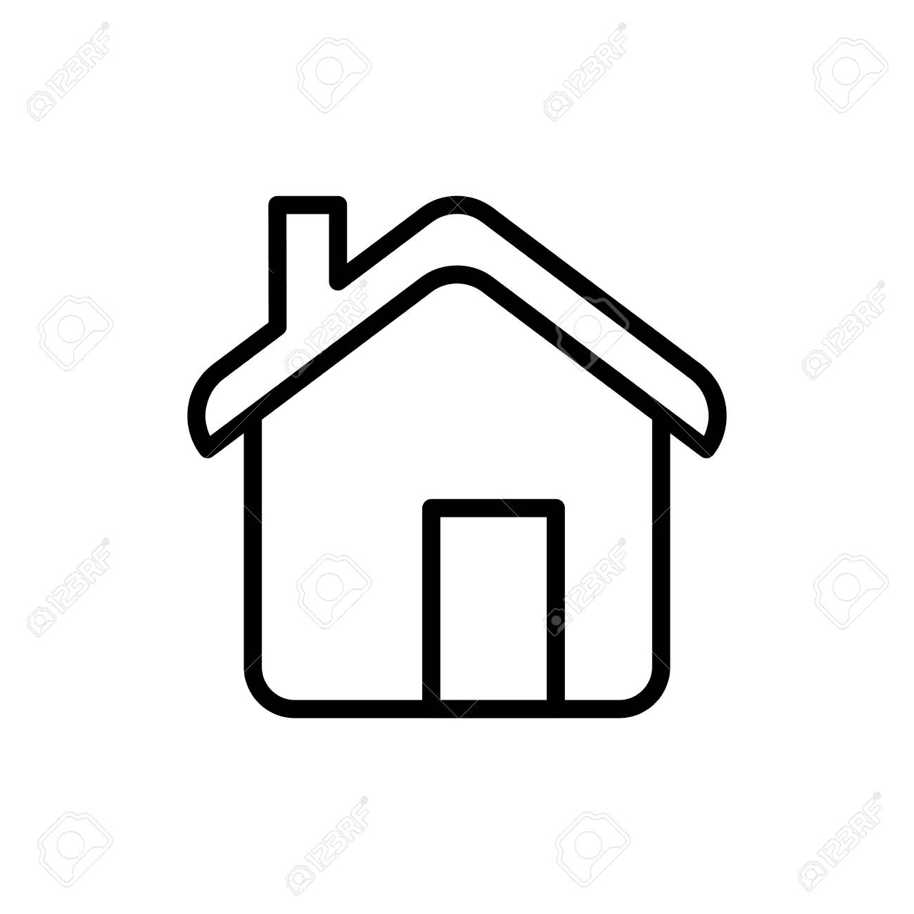 Home Icon On White Background Stock Illustration Download Image Now Istock