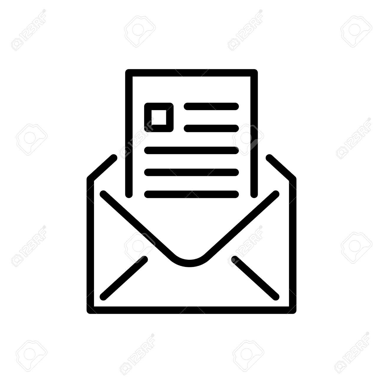 Image Courrier icône de courrier premium ou logo en ligne. signe et symbole de