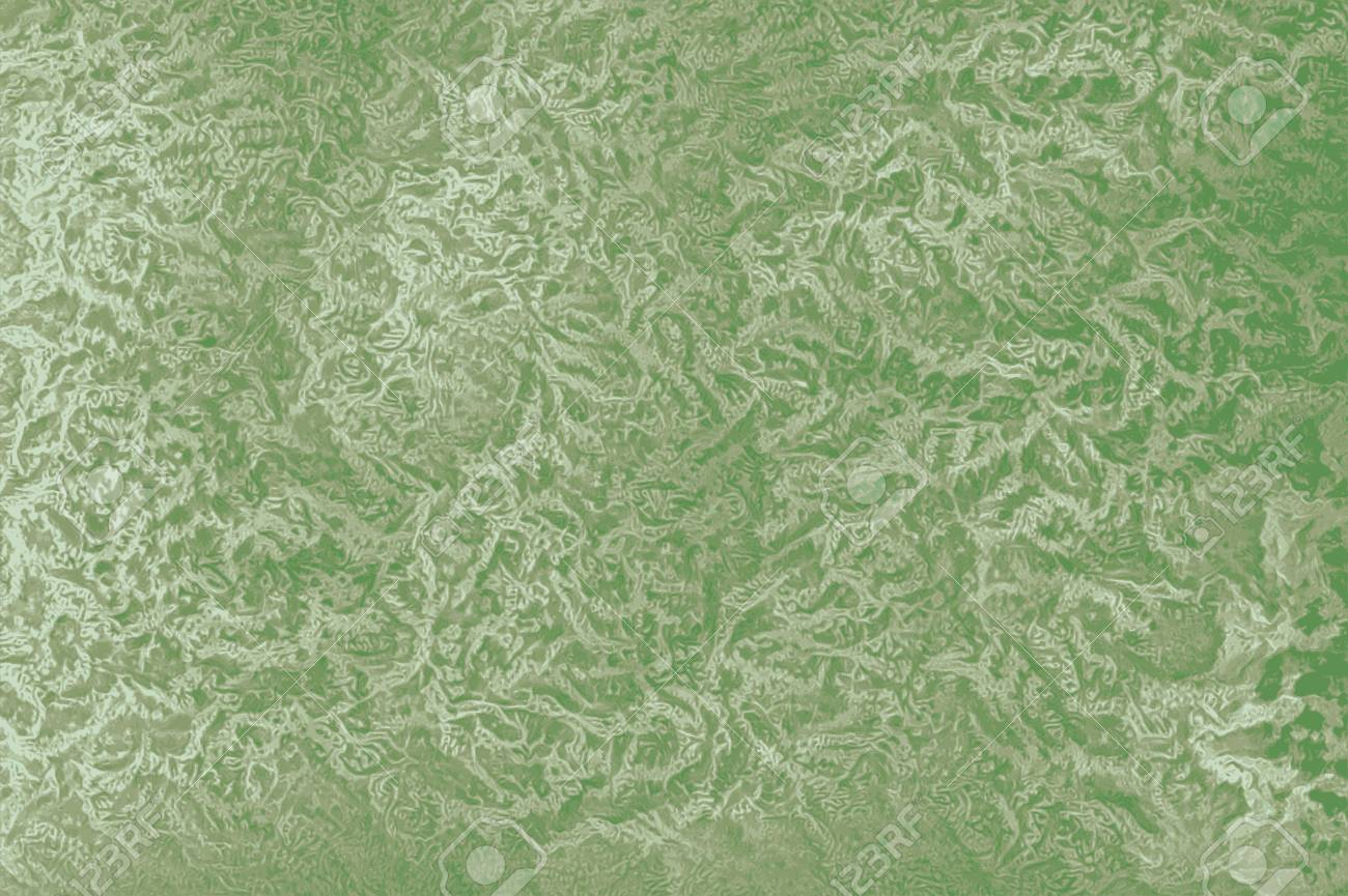 Green Retro 60s Wallpaper Background With Floral Patterns Stock