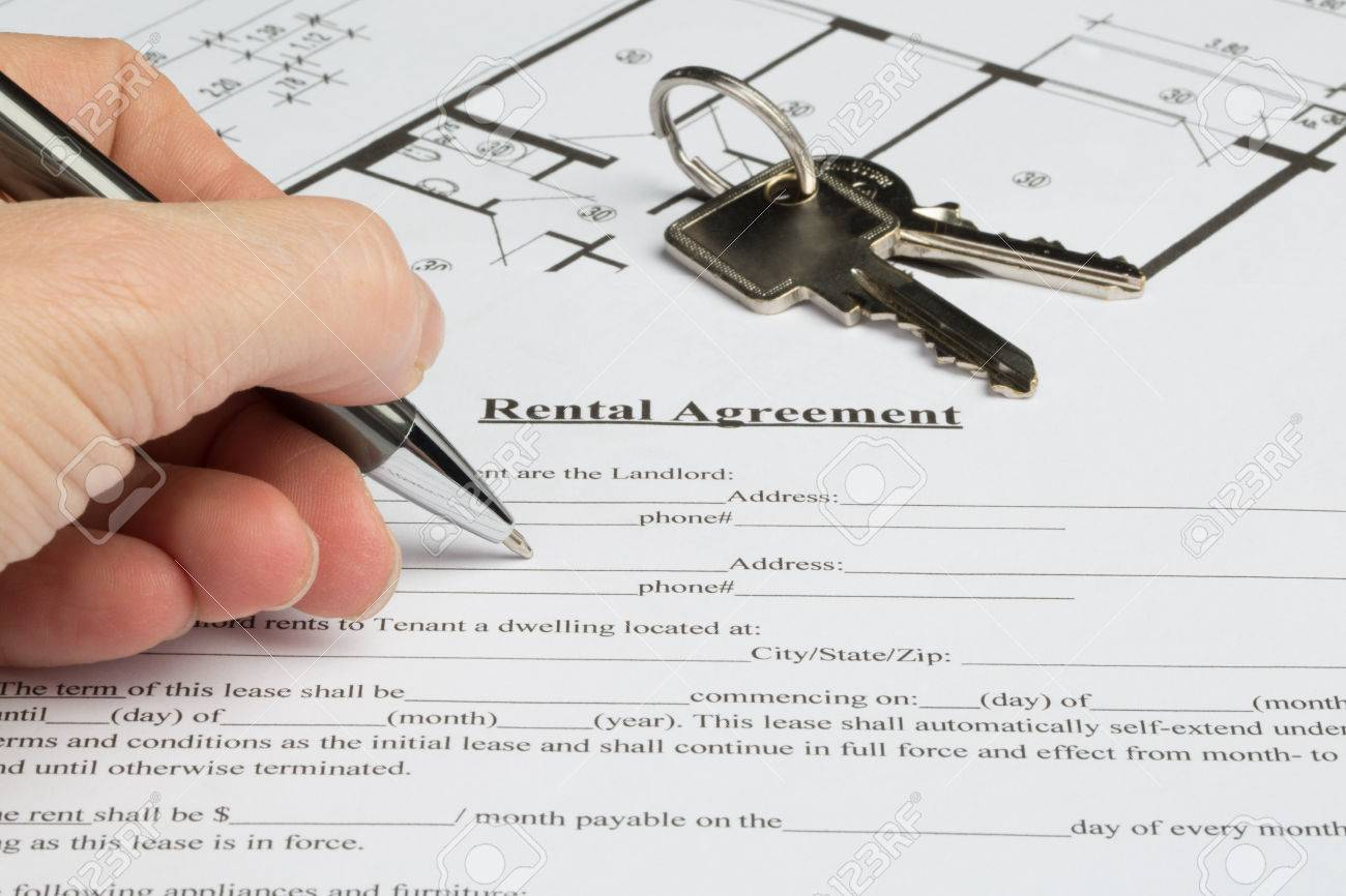 A People Starts To Fill Out A A Rental Agreement The Floor Plan