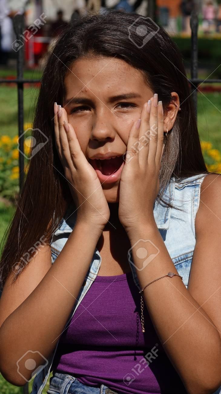 Teen girl shocked 6