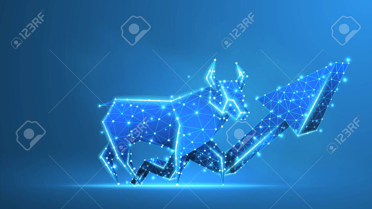 Bull market trend, growth arrow. Stock Exchange and concept of a trading chart. - 144437967
