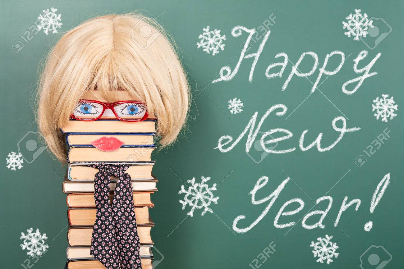 happy new year funny education idea with women teacher stock photo 71414826