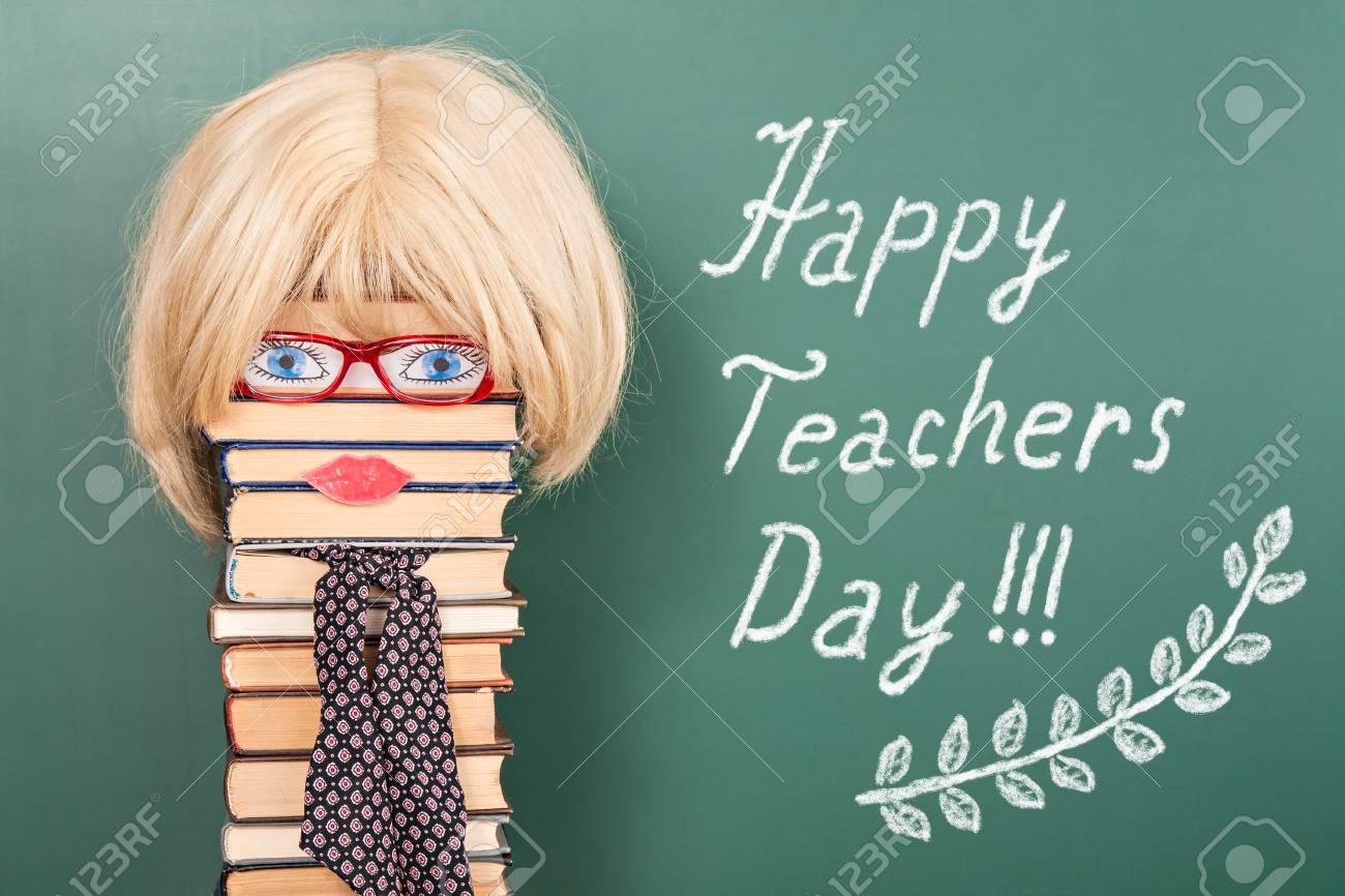 Gluckliche Lehrer Tag Lustige Konzept Mit Frauen Lizenzfreie Fotos
