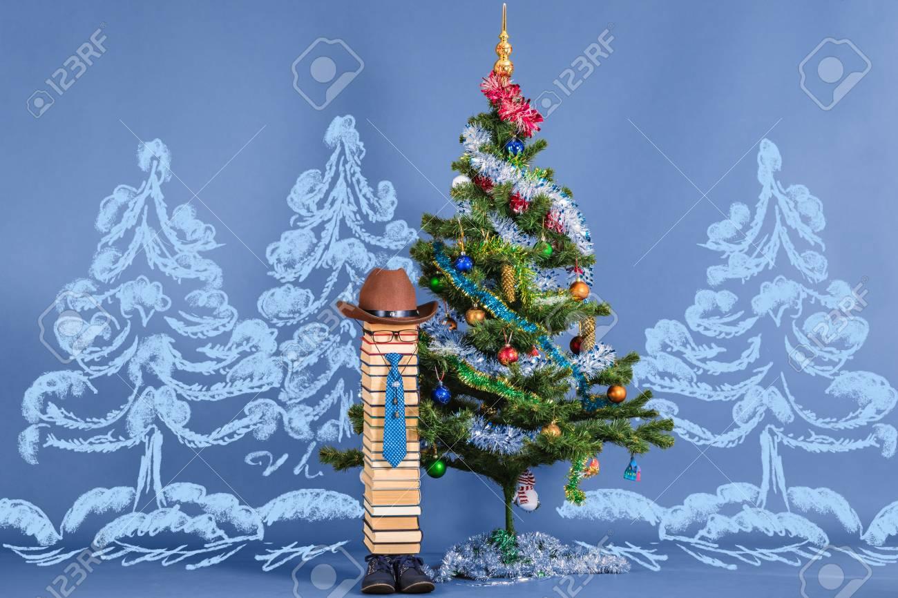 Merry Christmas And Happy New Year Creative Funny School Joke Stock
