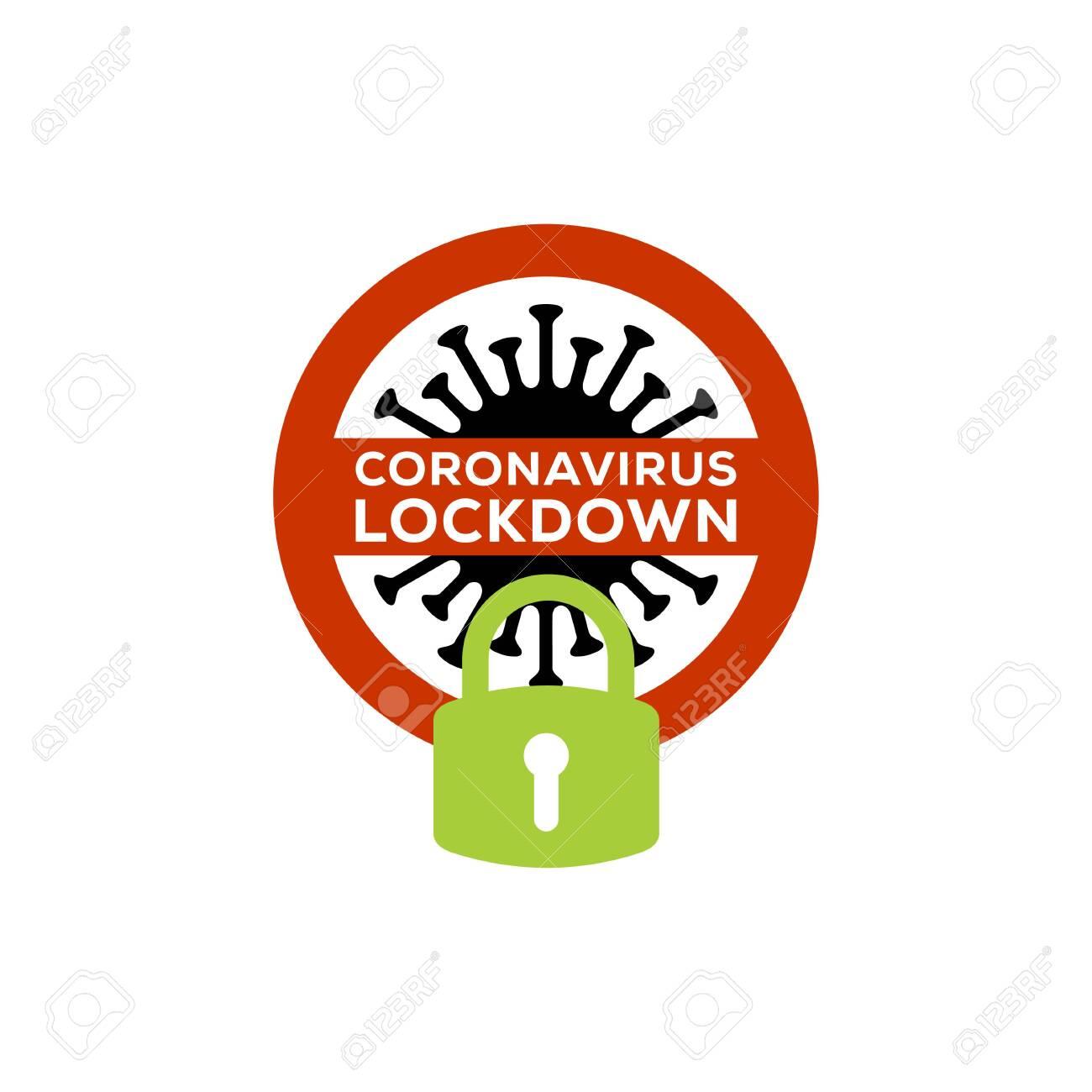 coronavirus lockdown symbol. Coronavirus pandemic puts countries on lockdown - 143792126
