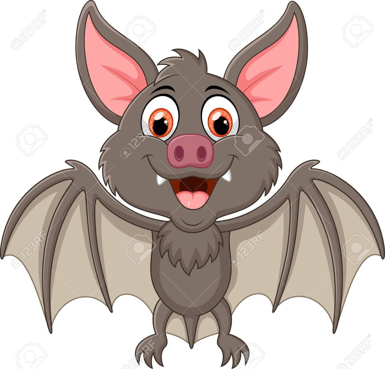 A Picture Of A Cartoon Bat happy vampire bat cartoon character flying