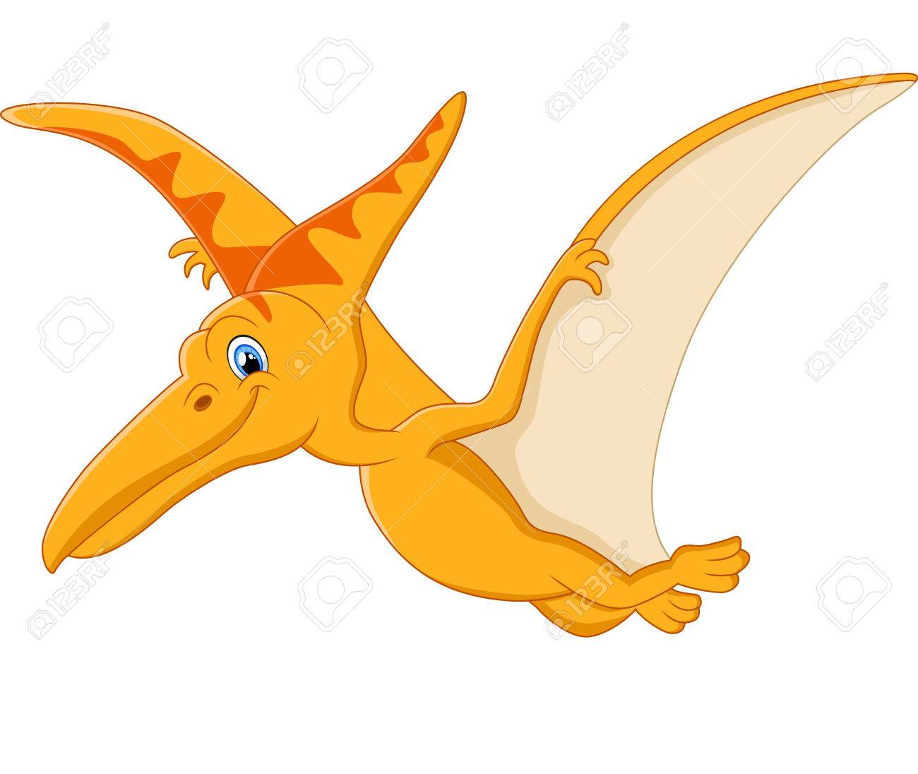 cute pterodactyl cartoon royalty free cliparts vectors and stock rh 123rf com Quetzalcoatlus and Pterodactyl Clip Art Flying Dinosaurs Pterodactyl