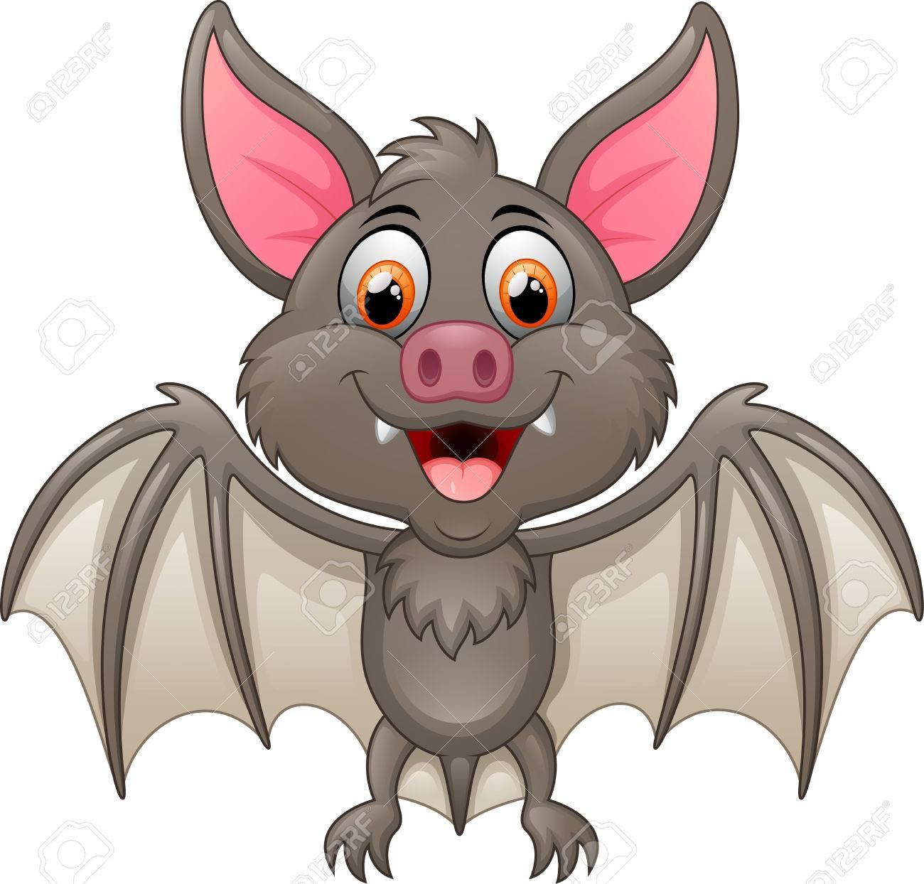 happy vampire bat cartoon character flying stock photo 46694682 - Bat Cartoon