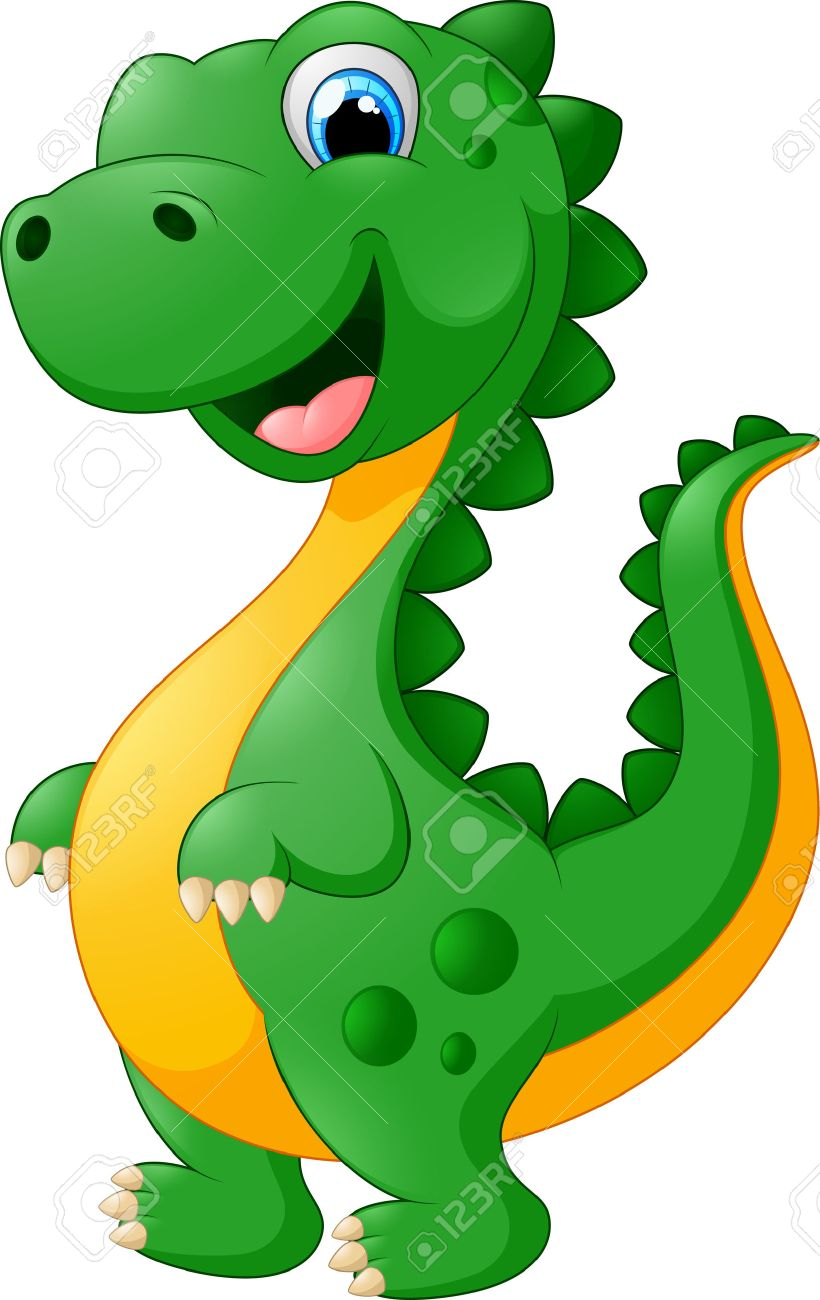 Image of: Cartoon Vector Cute Cartoon Dinosaur Stock Vector 46818951 123rfcom Cute Cartoon Dinosaur Royalty Free Cliparts Vectors And Stock