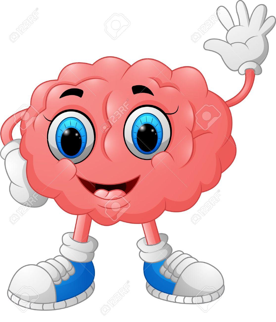 ilustración de dibujos animados de cerebro fotos retratos imágenes