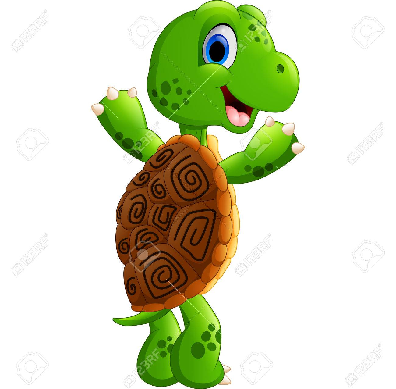 cute turtle cartoon posing stock photo picture and royalty free
