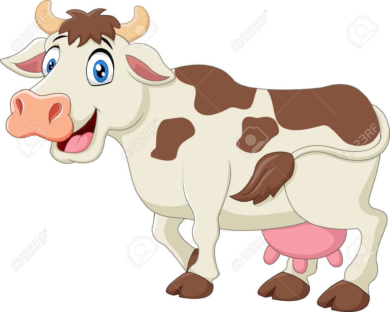 cute cow cartoon royalty free cliparts vectors and stock rh 123rf com cow images cartoon black and white cow cartoon images free download