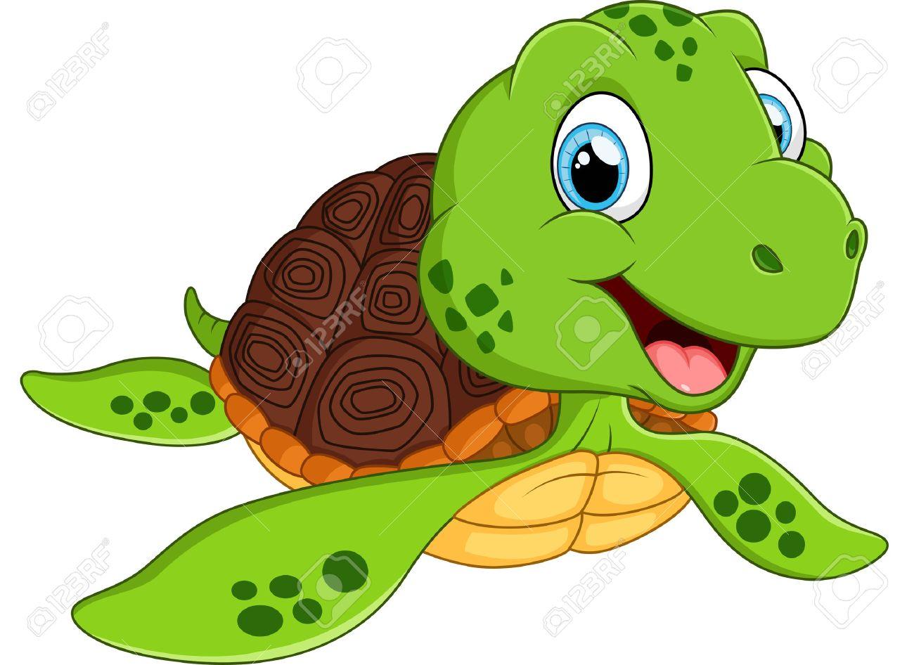 Happy sea turtle cartoon - 49222582