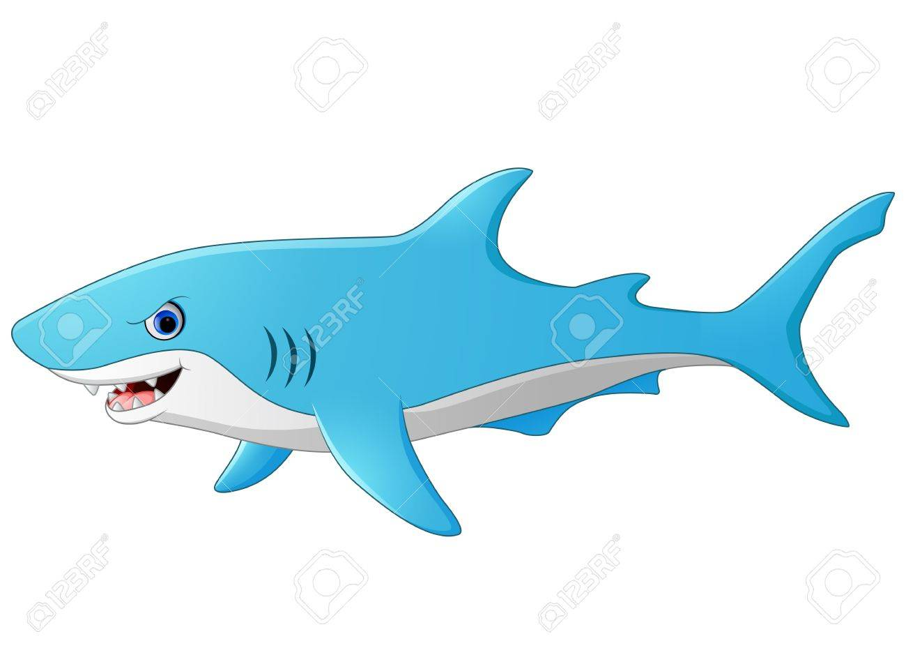 Cute Cartoon Shark Royalty Free Cliparts Vectors And Stock Illustration Image 56383093