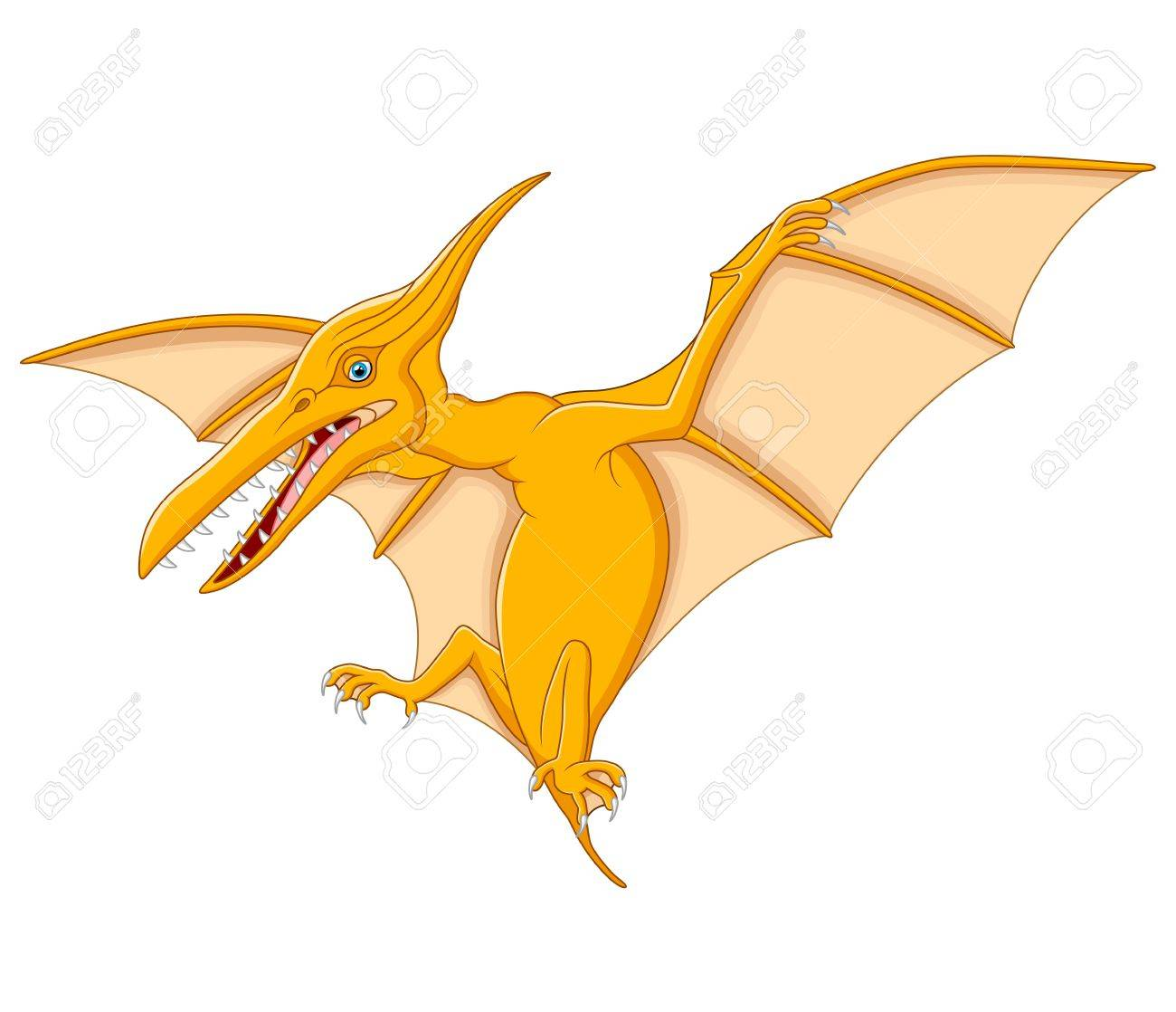 cute pterodactyl cartoon royalty free cliparts vectors and stock rh 123rf com Flying Dinosaurs Pterodactyl Pterodactyl Dinosaur