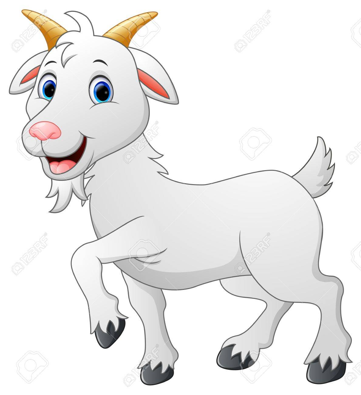 cartoon goat character royalty free cliparts vectors and stock rh 123rf com cute goat cartoon pictures funny cartoon goat pictures