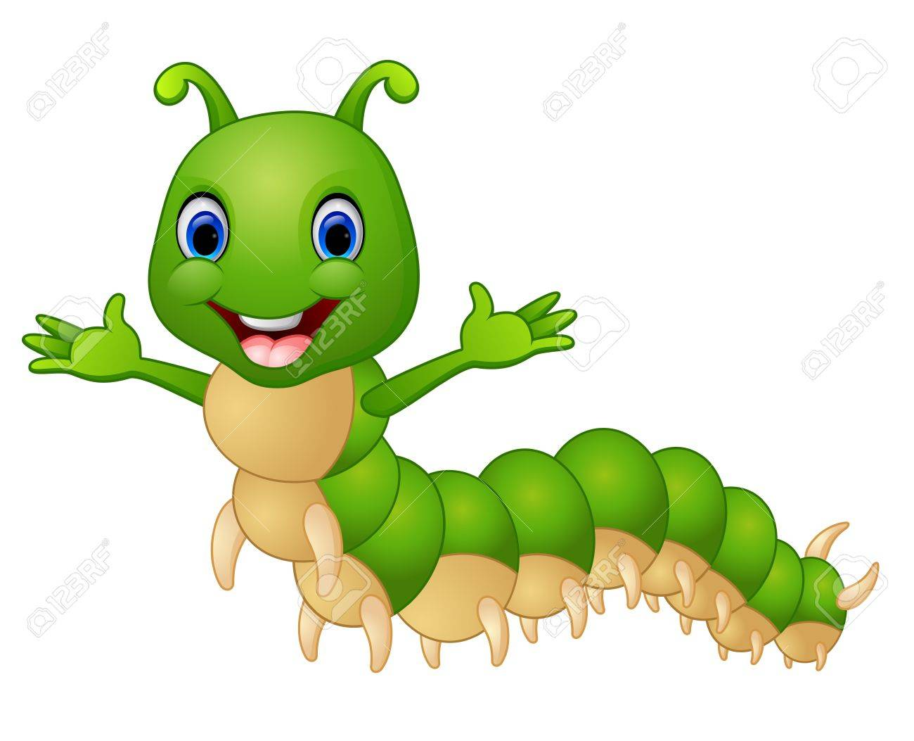 Cute Caterpillar Cartoon Royalty Free Cliparts Vectors And Stock