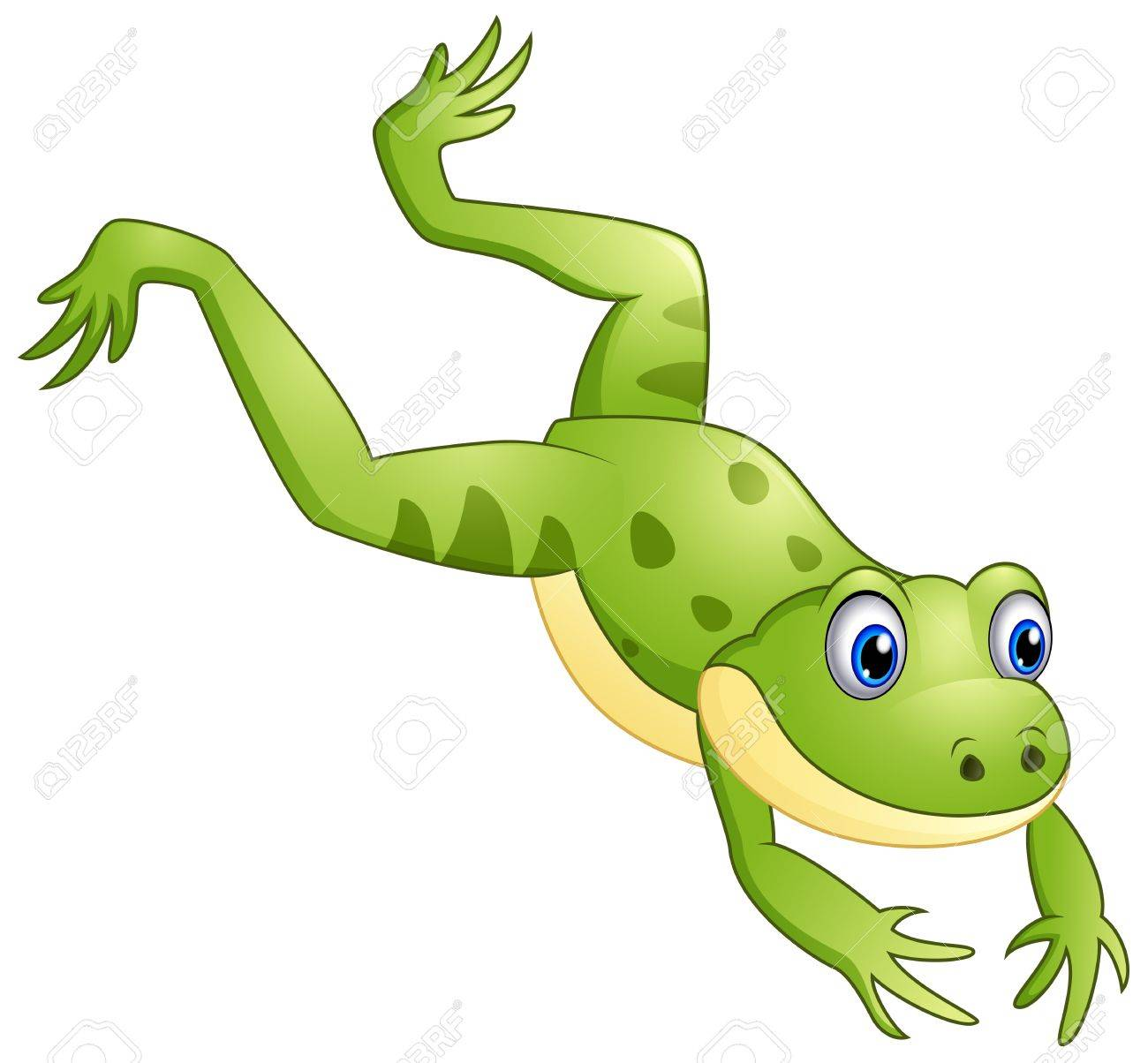 cute frog cartoon leaping royalty free cliparts vectors and stock rh 123rf com Cartoon Frogs Jumping Hoppin' Frog Boris the Crusher