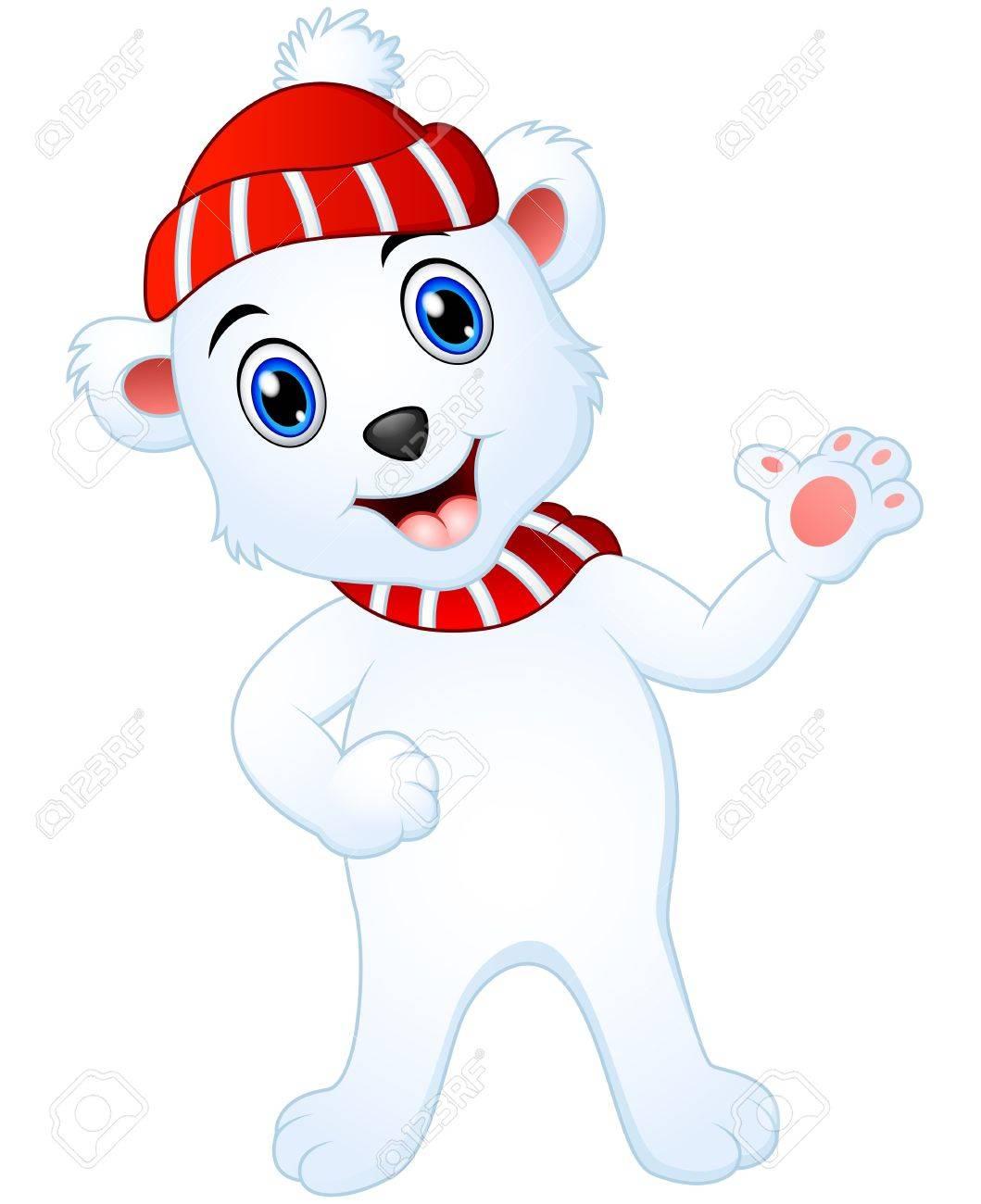 Dessin De Bande Dessinee Blanche D Ours Blanc De Noel Banque D