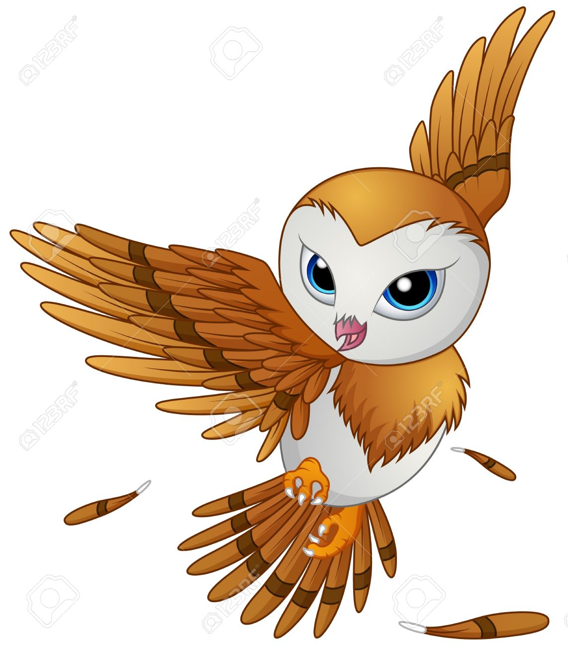 cute owl cartoon flying royalty free cliparts vectors and stock