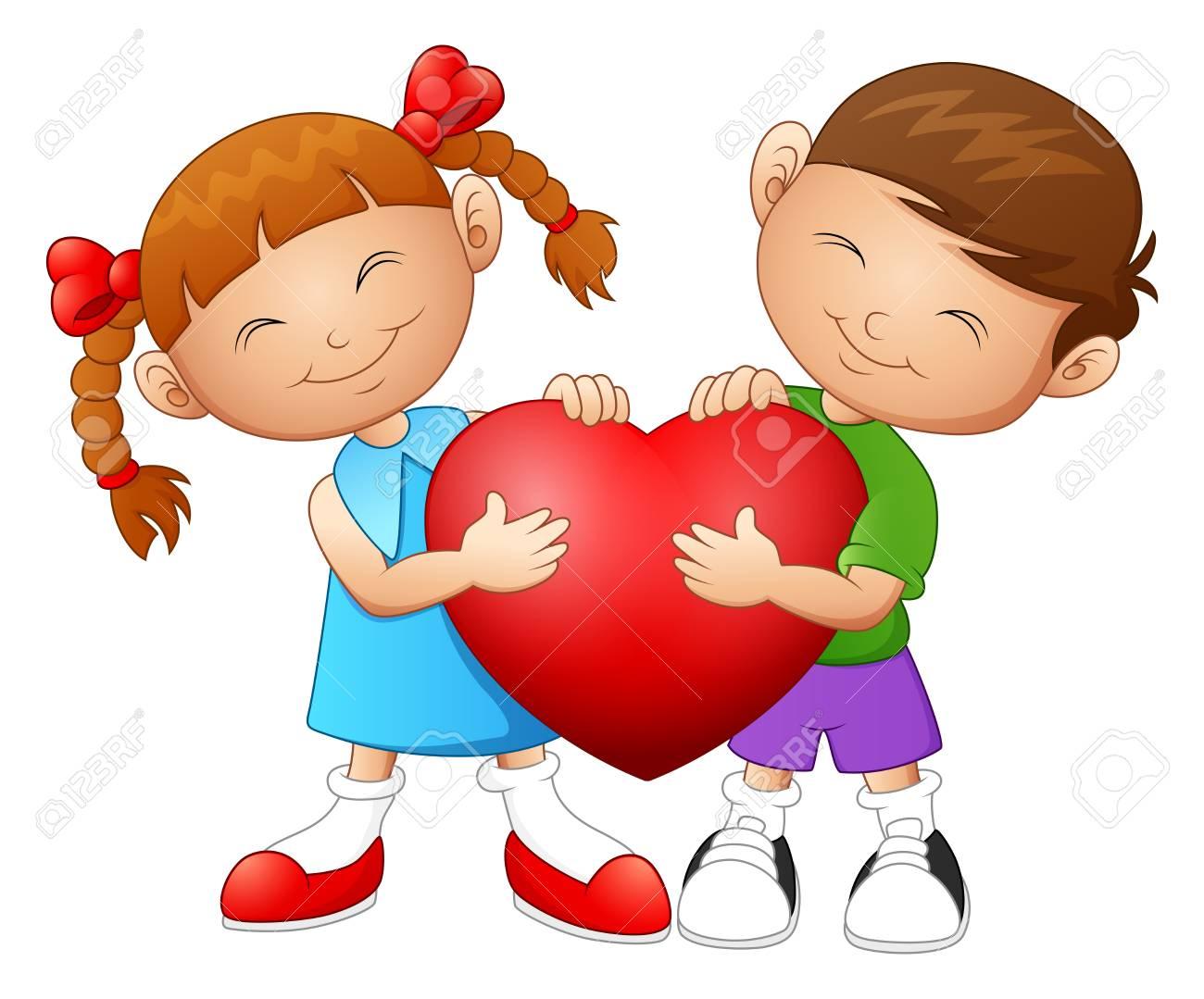 Caricatura Pareja En El Corazón De La Celebración Del Amor Fotos Retratos Imágenes Y Fotografía De Archivo Libres De Derecho Image 71573804