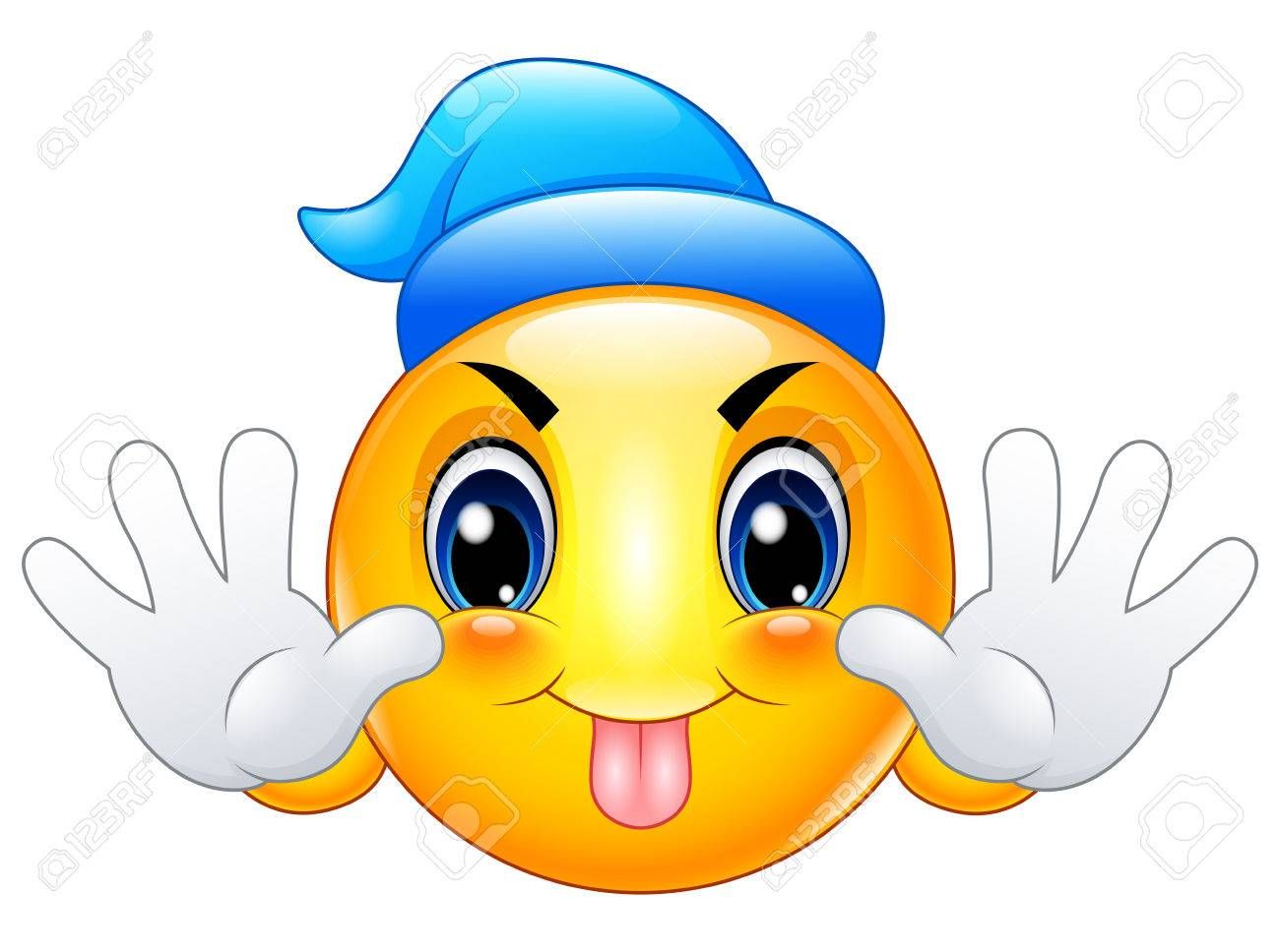 Emoticon De Bande Dessinee Qui Sort Sa Langue Clip Art Libres De Droits Vecteurs Et Illustration Image 75359014