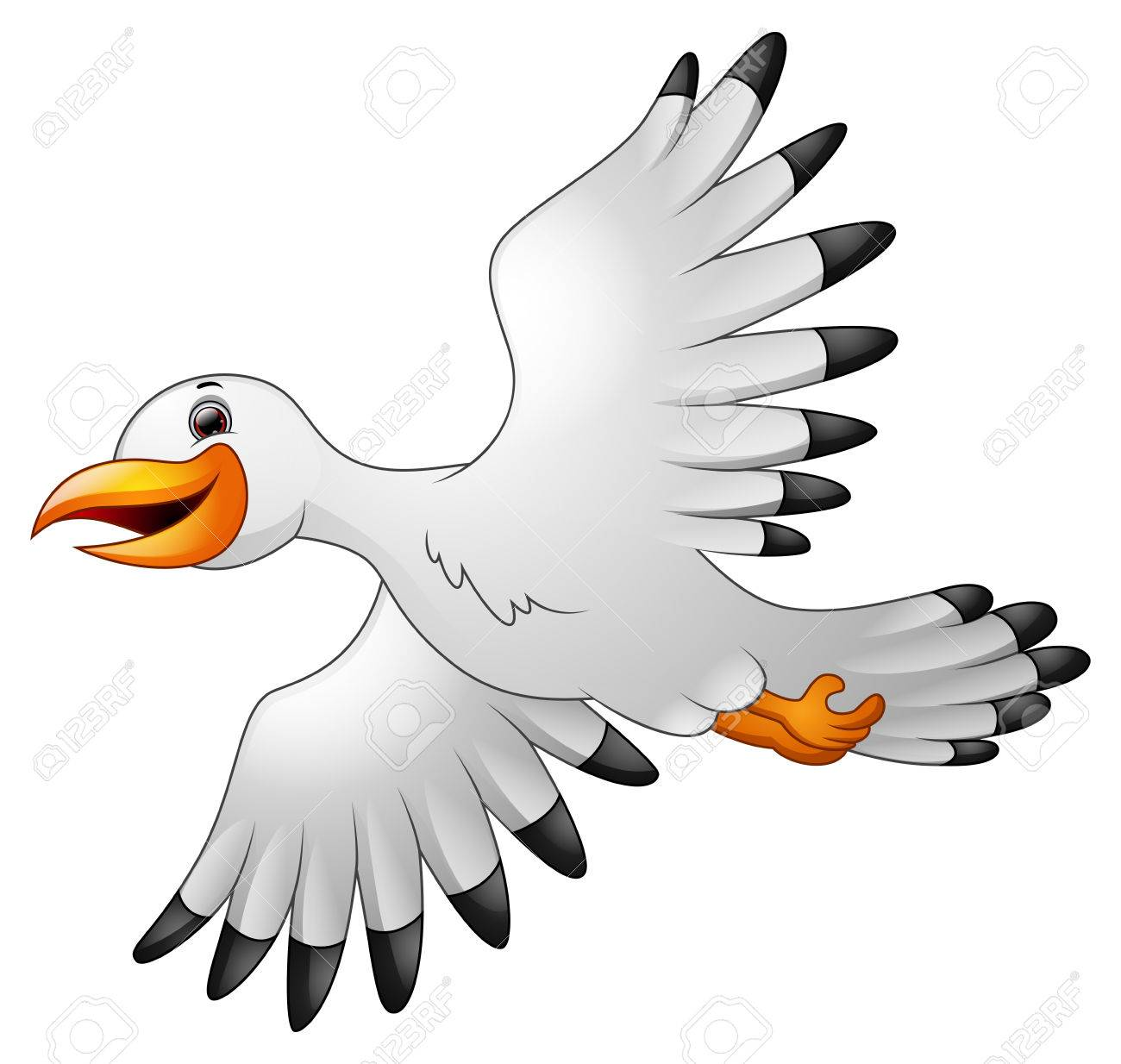 cartoon seagulls flying stock photo picture and royalty free image rh 123rf com seagull cartoon images seagull cartoon pics