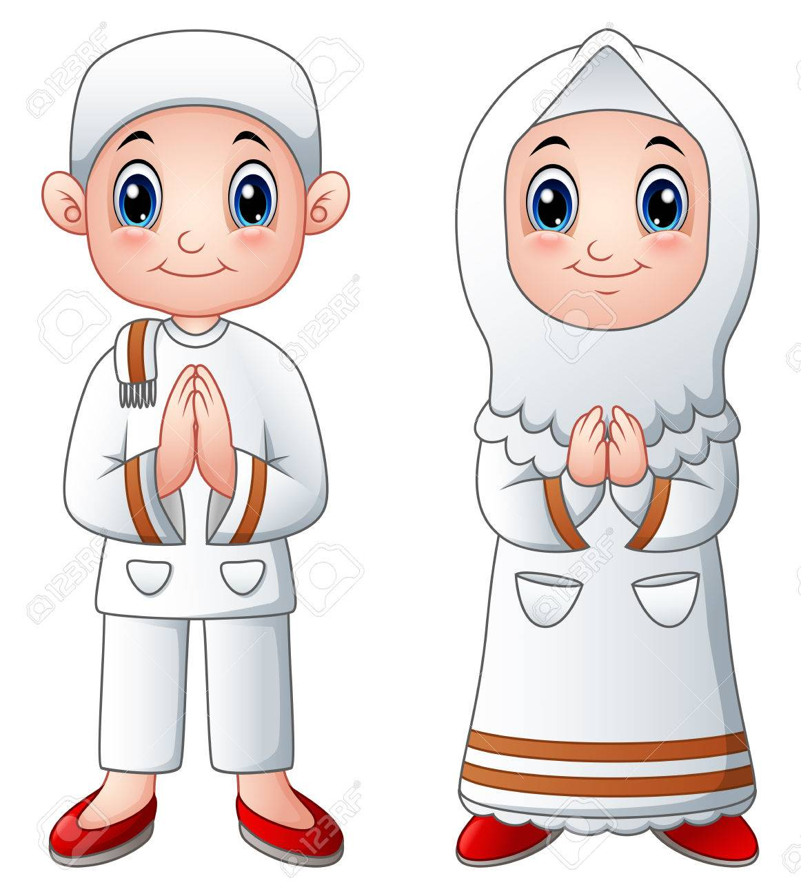 Muslim kid cartoon greeting royalty free cliparts vectors and muslim kid cartoon greeting stock vector 79164209 m4hsunfo