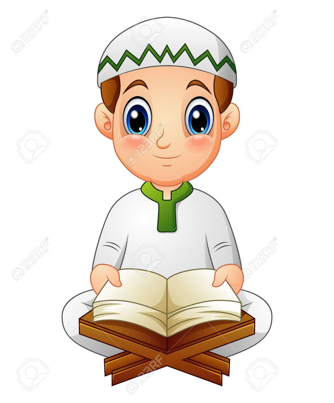 Reading Quran Clipart - Gambar Islami