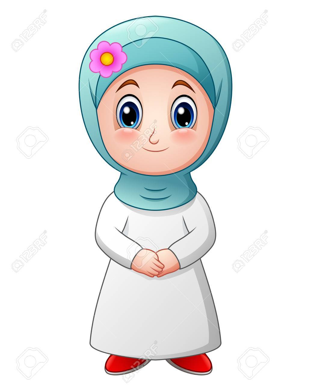 Muslim Cartoon Girl