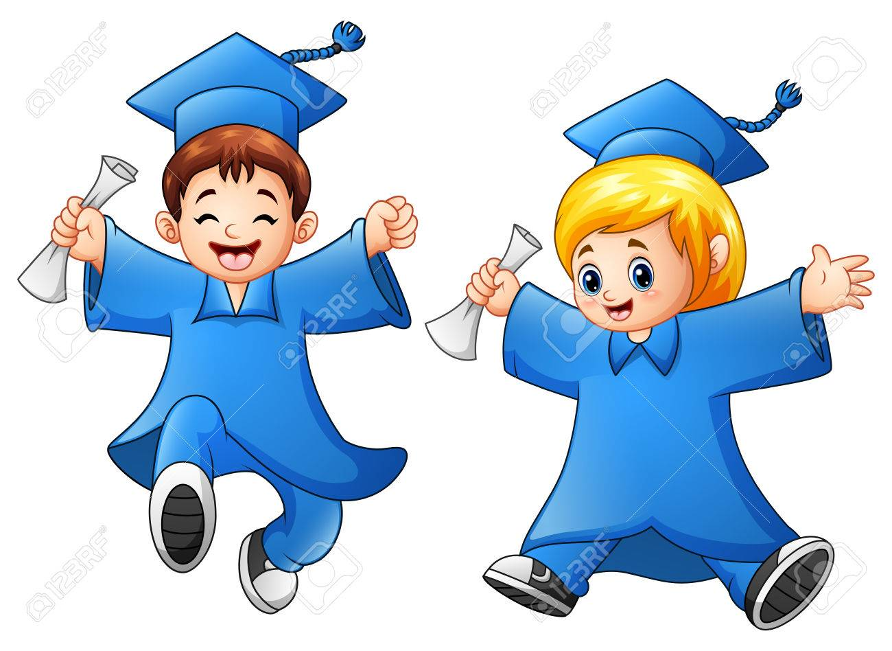 Graduate Giving A Thumbs Up Drawing Clip Art