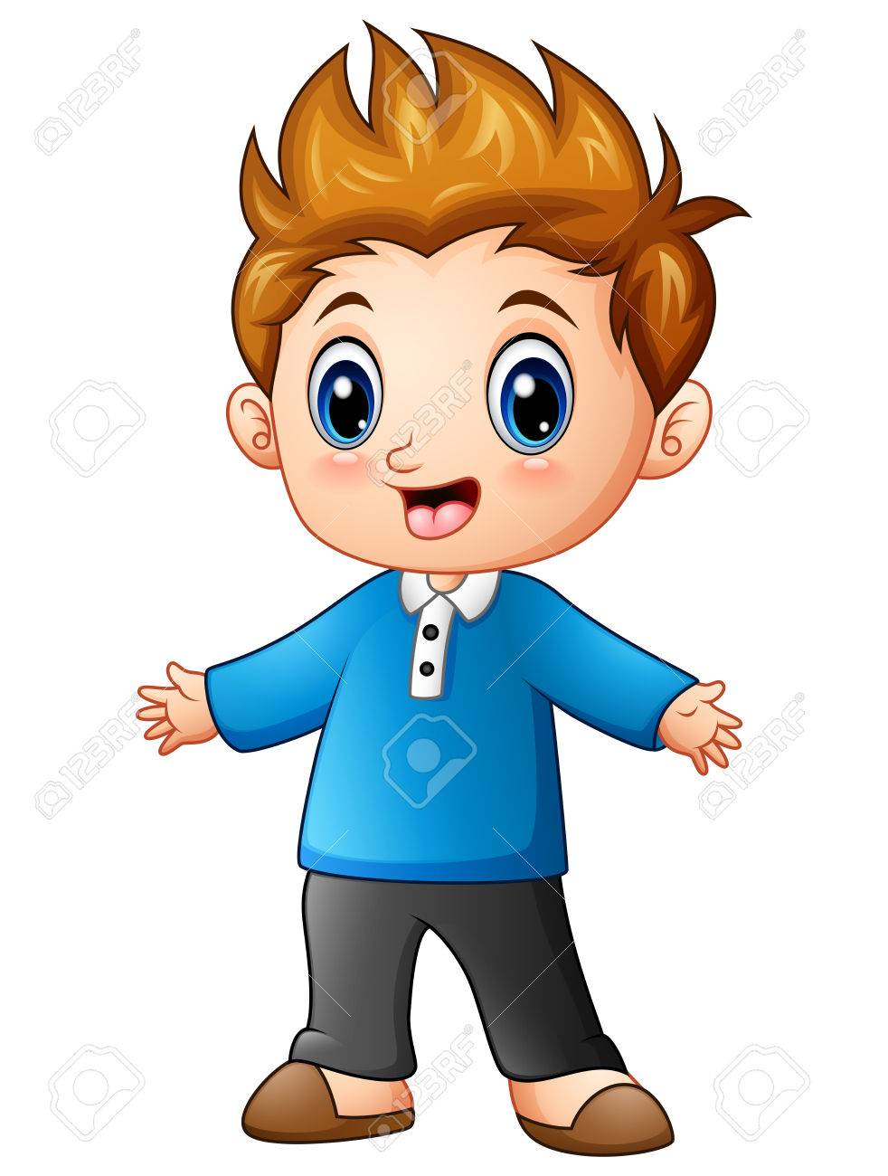 Cute Little Boy Cartoon Royalty Free Cliparts Vectors And Stock