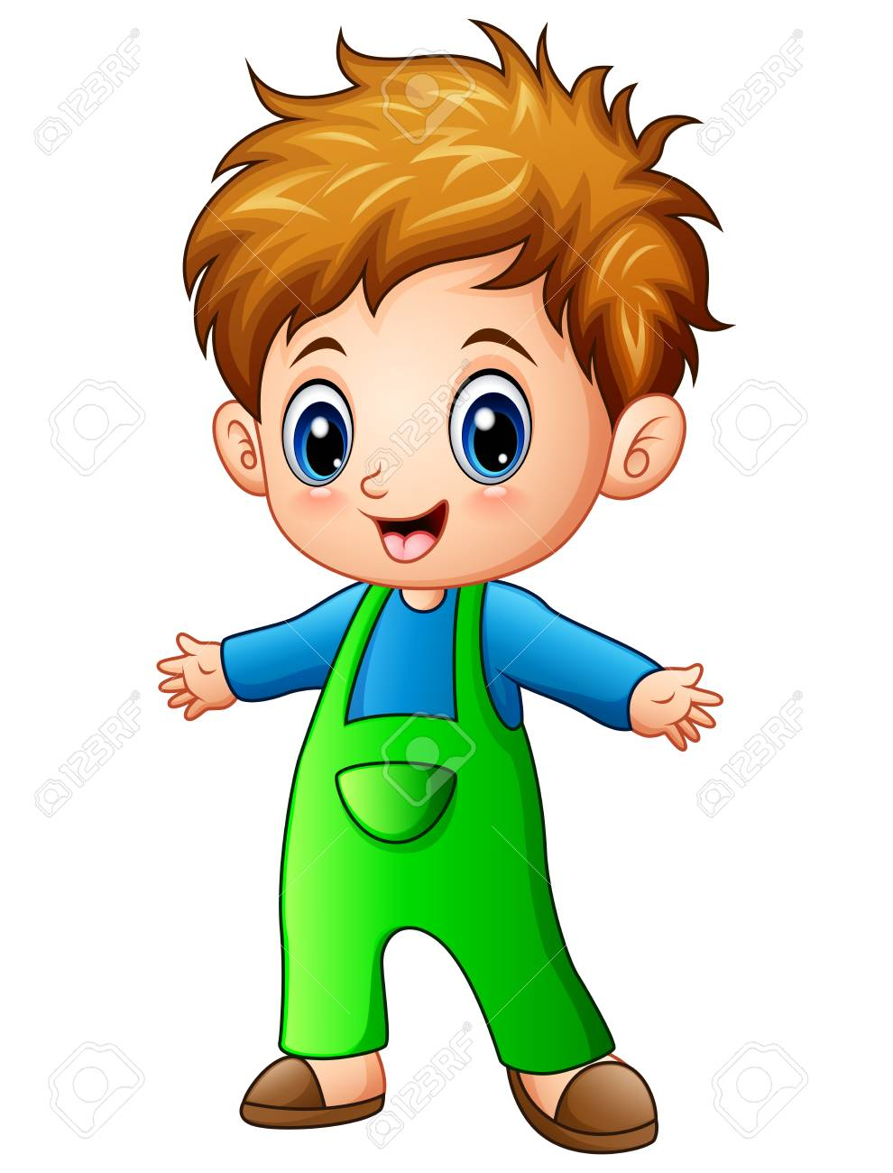 Cute Little Boy Cartoon Stock Photo Picture And Royalty Free Image