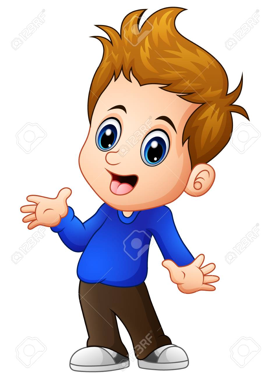 Cute Boy Cartoon Posing Stock Photo Picture And Royalty Free Image