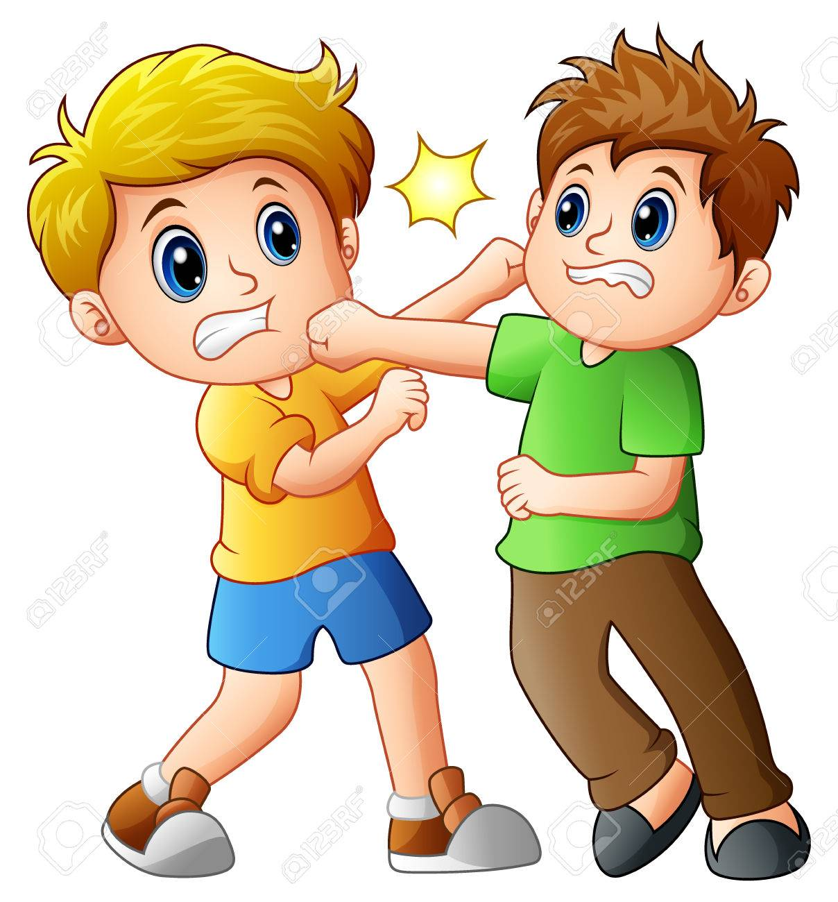 two boys fighting stock photo picture and royalty free image image