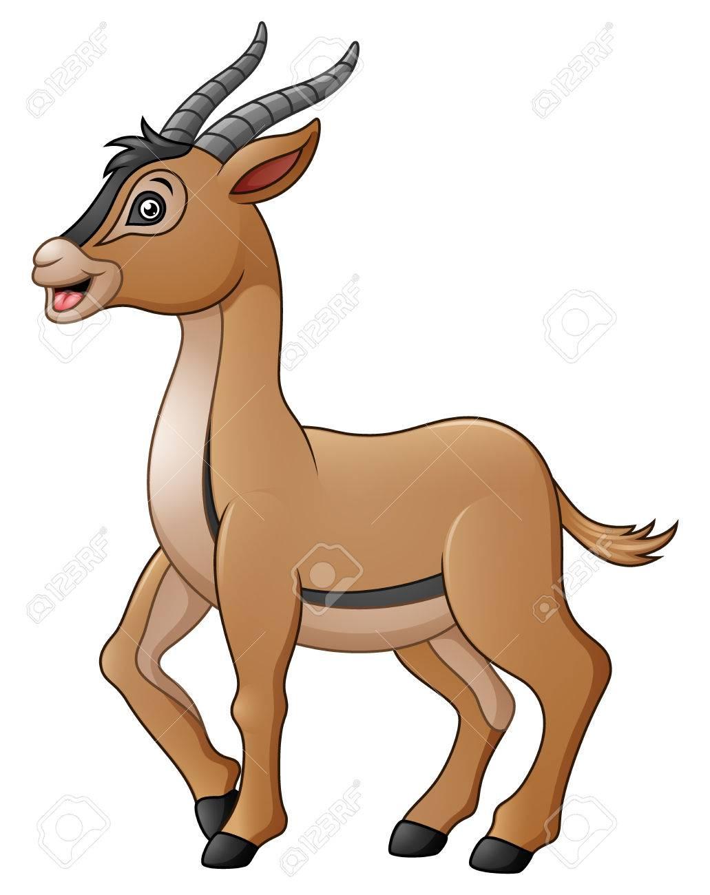 cute antelope cartoon stock photo picture and royalty free image rh 123rf com cartoon antelope drawing cartoon antelope head