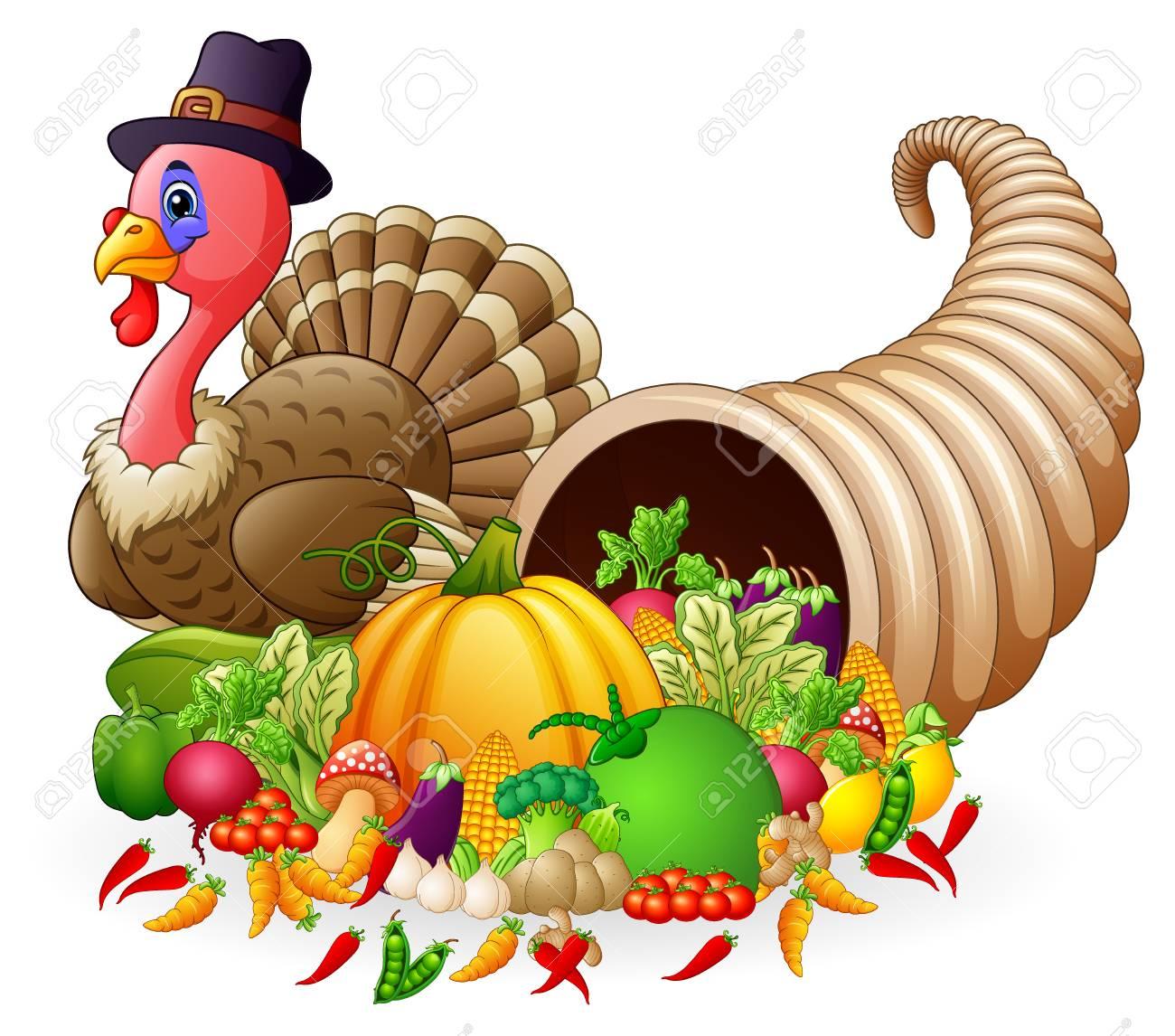 a vector illustration of thanksgiving horn of plenty cornucopia rh 123rf com