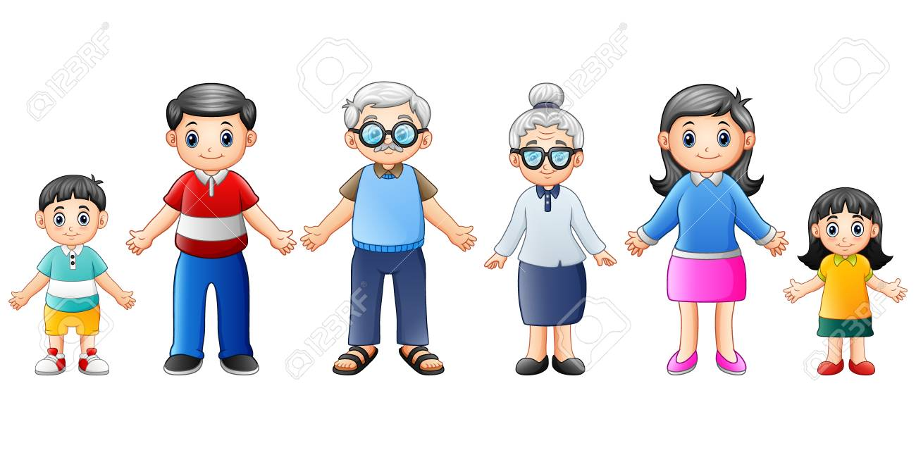 Happy Families Cartoon Stock Photo, Picture And Royalty Free Image. Image  89410501.