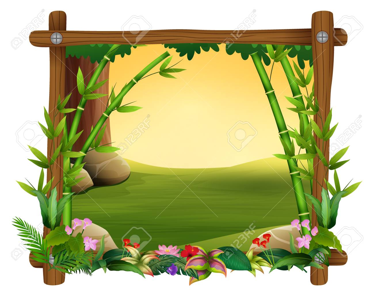 illustration of bamboo trees in frame nature royalty free cliparts vectors and stock illustration image 106845972 illustration of bamboo trees in frame nature