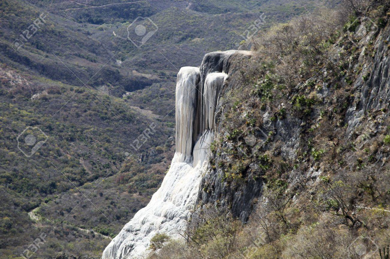 the unique and beautiful landscape of hierve el agua in oaxaca state, mexico Stock Photo - 16786493