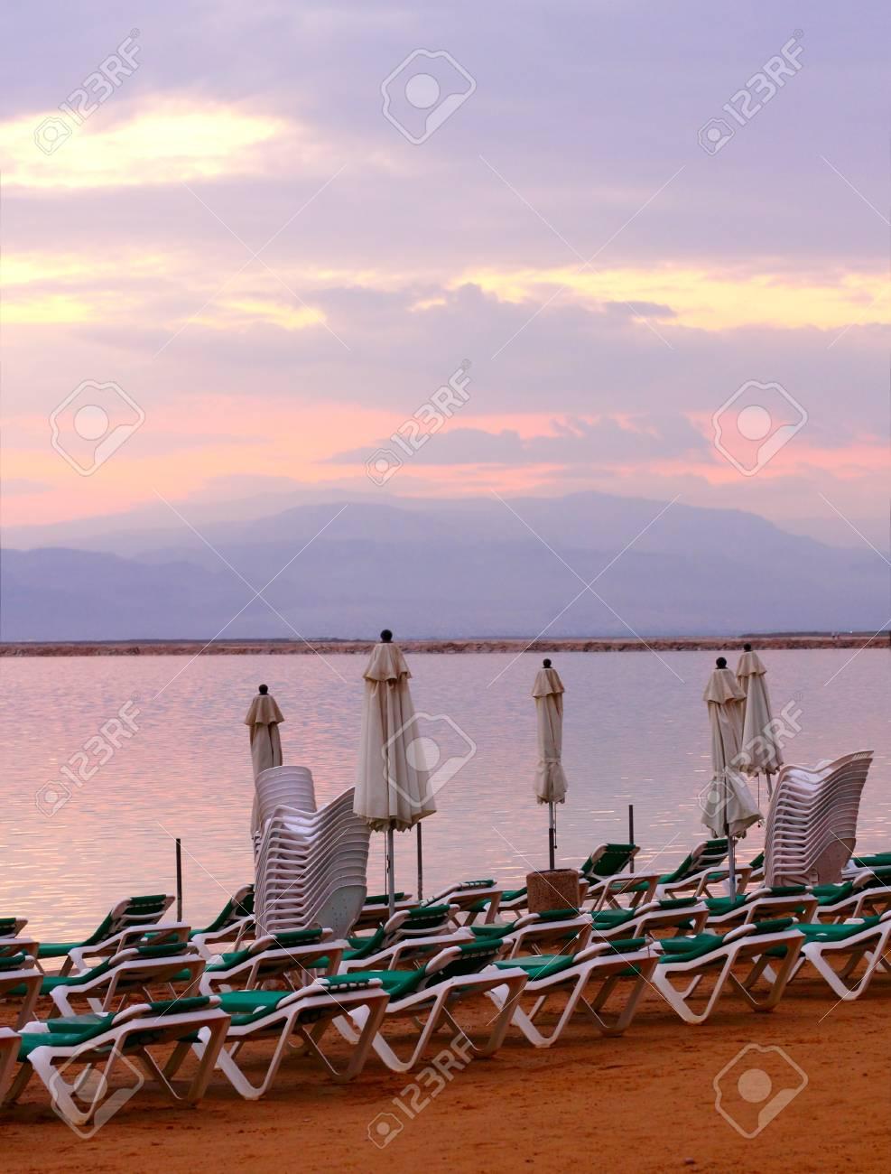 sunrise at Dead Sea Stock Photo - 12441511