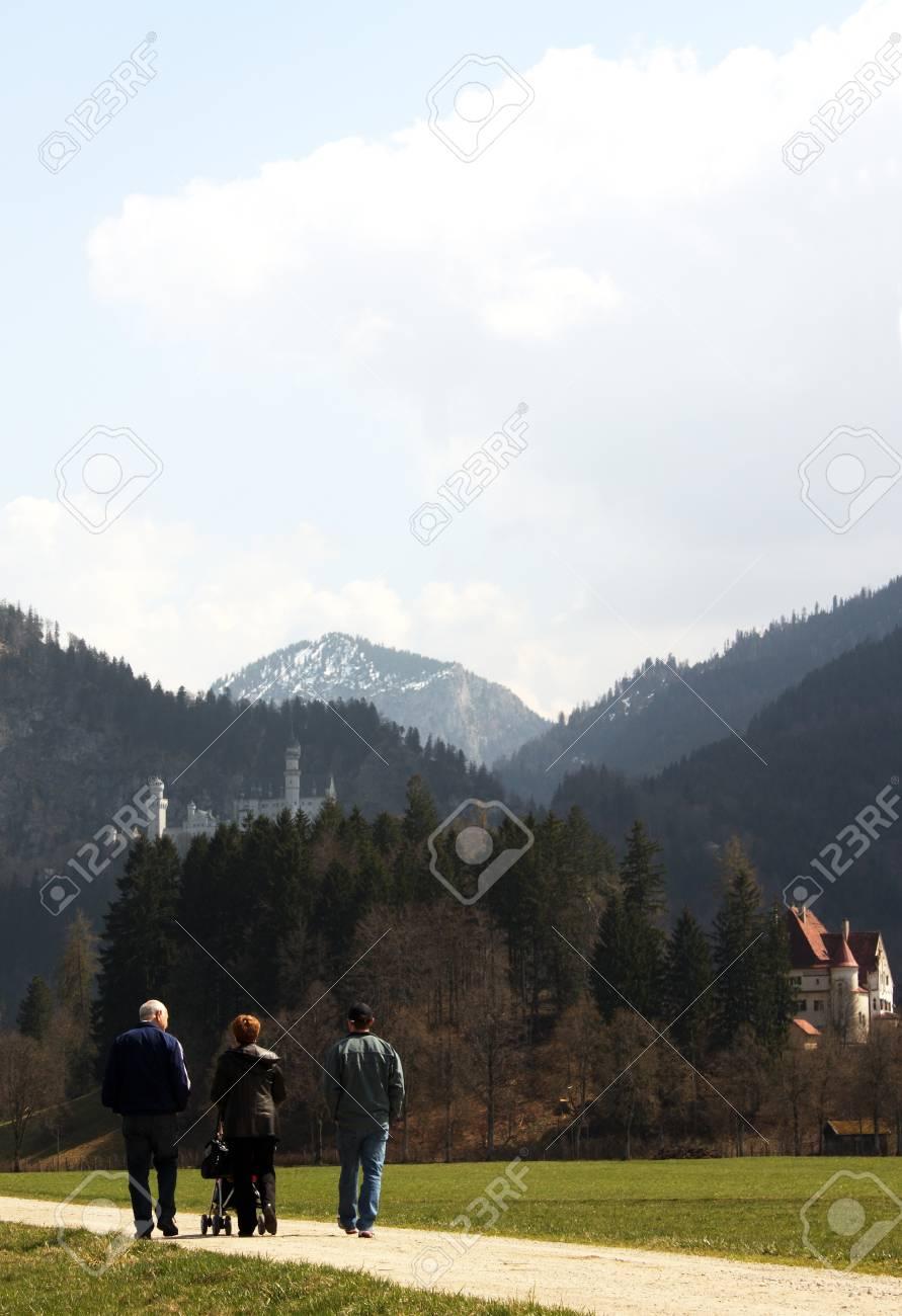 Family on walk  Germany, Bavaria Stock Photo - 12775131