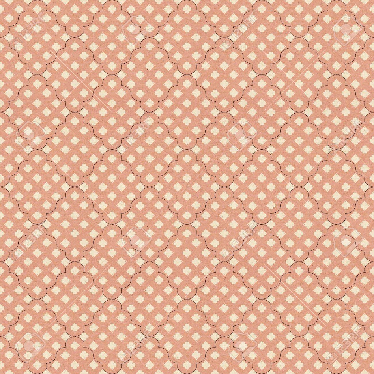 Vintage Pattern On Textured Paper Stock Photo Picture And Royalty