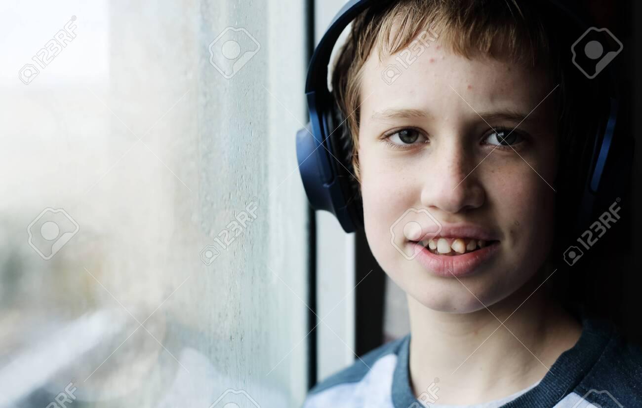 Portrait of teenage 12 years old boy - 144340323