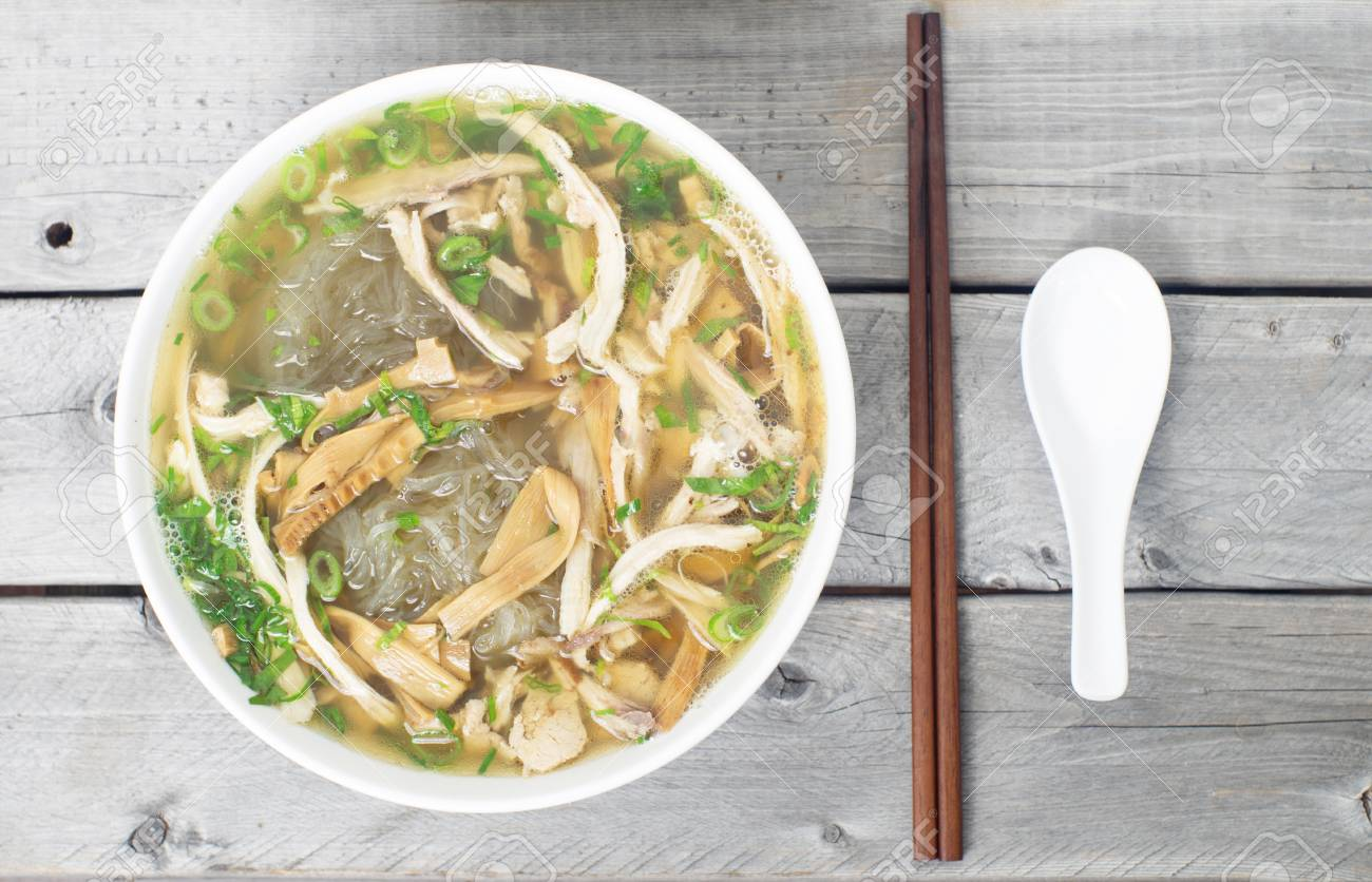 Vietnamese Vermicelli Chicken And Bamboo Shoots Soup Mien Man Stock Photo Picture And Royalty Free Image Image 32730685