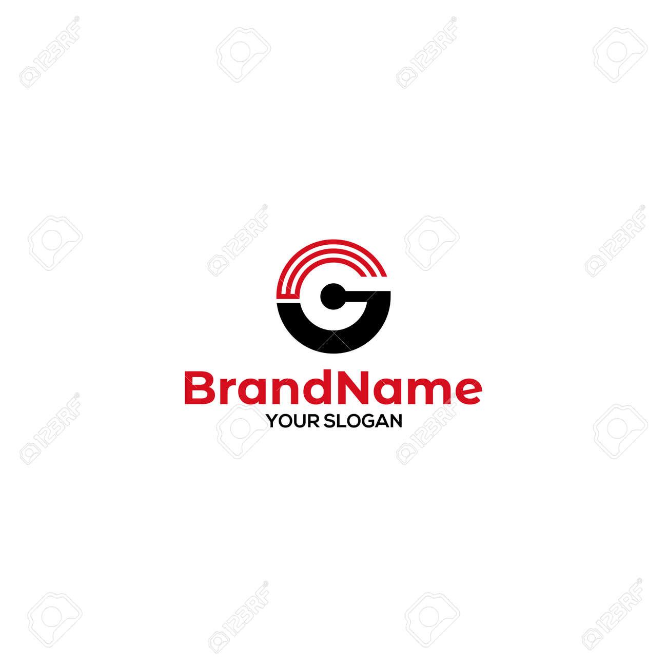 GE Signal Logo Design Vector - 168439279
